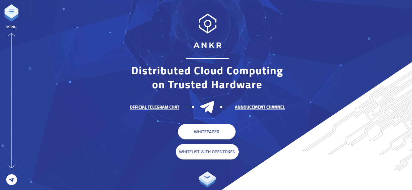 Ankr Network ICO Home Page