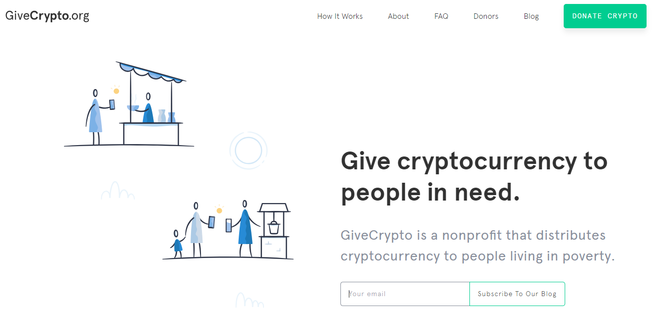 GiveCrypto Home Page